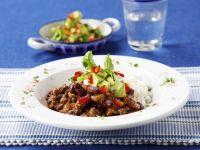 Chili Con Carne with Avocado Salad recipe