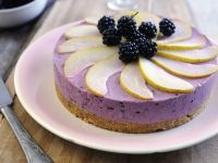 Chilled Blackberry and Pear Cheesecake recipe