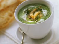 Chilled Cucumber and Salmon Soup recipe