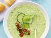 Chilled Cucumber Soup with Basil recipe