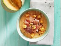 Chilled Melon and Ham Soup recipe