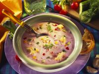 Chilled Yogurt Soup with Vegetables recipe