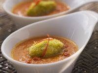 Chilli and Vegetable Bisque with Nut Quenelles recipe