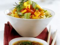 Chinese Noodles with Bell Peppers recipe