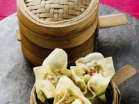 Chinese Pork and Vegetable Wontons recipe