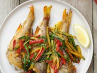 Chinese-style Whole Sea Bass recipe
