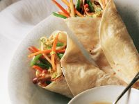 Chinese Veggie Pancake Wraps recipe
