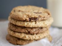 Choc Chip, Oat, and Peanut Cookies recipe