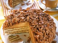 Chocolate and Cream Layer Cake recipe