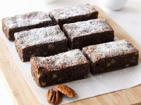Chocolate and Nut Slices recipe