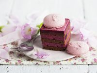 Chocolate and Raspberry Mousse Gateau recipe