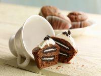 Chocolate and Vanilla Cookie Cakes recipe