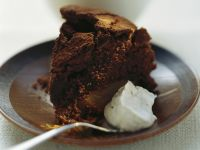 Chocolate Cake with Pears recipe