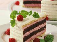 Chocolate Cake with Raspberry Cream recipe