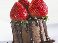 Chocolate Cake with Strawberries recipe