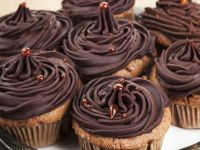Chocolate Cakes with Buttercream Swirl recipe