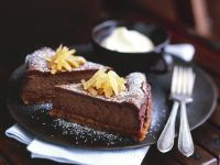 Chocolate Cheesecake with Candied Ginger recipe