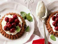 Chocolate Cherry Cream Tartlets recipe