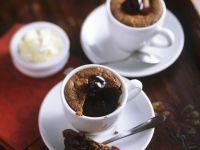 Chocolate Cherry Custard Cups recipe