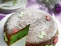 Chocolate Covered Festive Pineapple Cake recipe