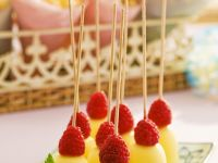Chocolate Covered Marshmallow with Raspberries recipe