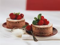 Chocolate Cream Cake with Raspberries recipe