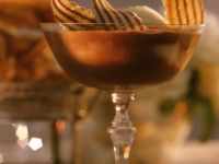 Chocolate Cream with Ginger Sorbet recipe