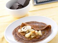 Chocolate Crepes with Pears recipe