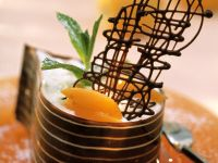 Chocolate Dessert with Yogurt Cream and Apricots recipe