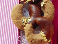 Chocolate Dipped Chocolate Crescents recipe