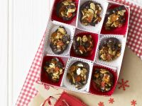 Chocolate-Dipped Florentine with Raisins recipe