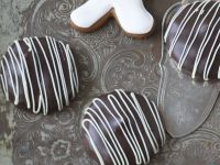 Chocolate Dipped Gingerbread Cookies