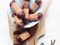 Chocolate Dipped Mocha Biscuits recipe