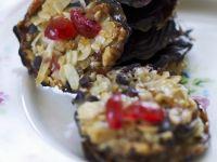 Chocolate Discs with Cherries recipe