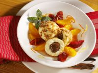 Chocolate Dumplings with Orange Sauce recipe