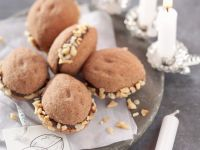 Chocolate-filled Walnut Cookie Bites recipe