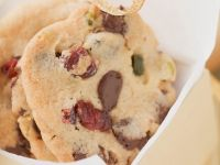 Chocolate Fruit and Nut Cookies recipe