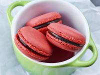 Chocolate Ganache Filled Pink Macaroons recipe