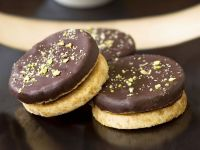 Chocolate-glazed Cookies with Nuts recipe
