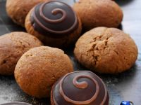 Chocolate-Glazed Spice Cookies recipe