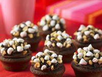 Chocolate, Hazelnut and Marshmallow Cupcakes recipe