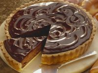 Glazed Choc Pastry Pie recipe