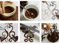 Chocolate Heart Vine Tower Decoration for Cakes and Flans recipe