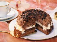 Chocolate Ice Cream Cake with Nuts recipe