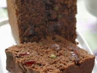 Chocolate Loaf Cake with Pistachios and Cranberries recipe