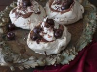 Chocolate Mousse and Cherry Meringues recipe