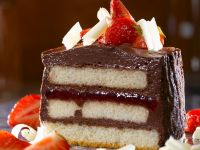 Chocolate Mousse Cake with Strawberries recipe