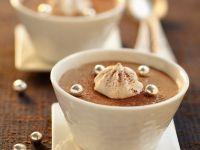 Chocolate Mousse with Mini Meringues recipe