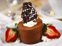 Soft Chocolate Pudding with Berries recipe
