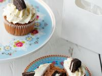 Chocolate Muffins with Cookie Centres recipe